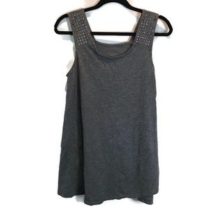 Liz Lange Maternity Gray Studded Sleeveless Top M